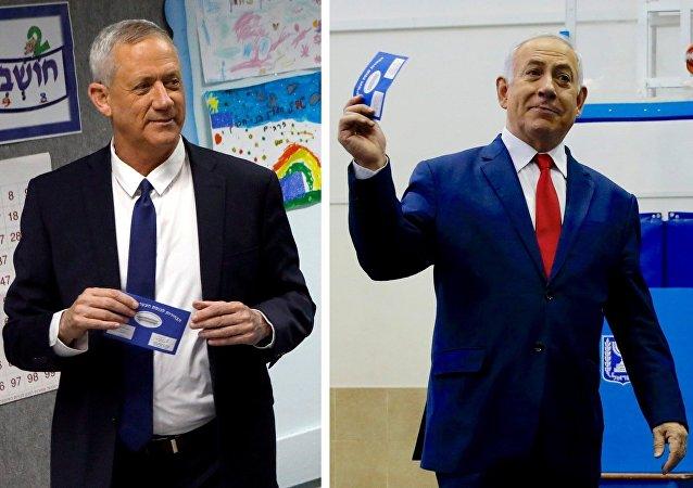 Benny Gantz y Benjamín Netanyahu