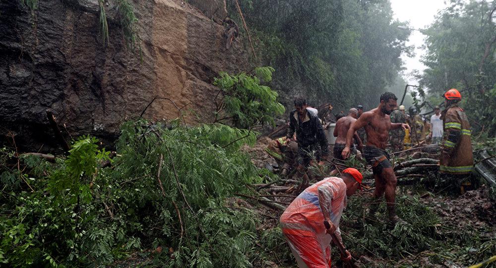 Consecuencias de lluvias en Río de Janeiro