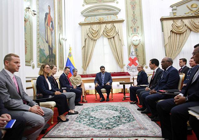 Encuentro de Nicolás Maduro con representantes del CICR