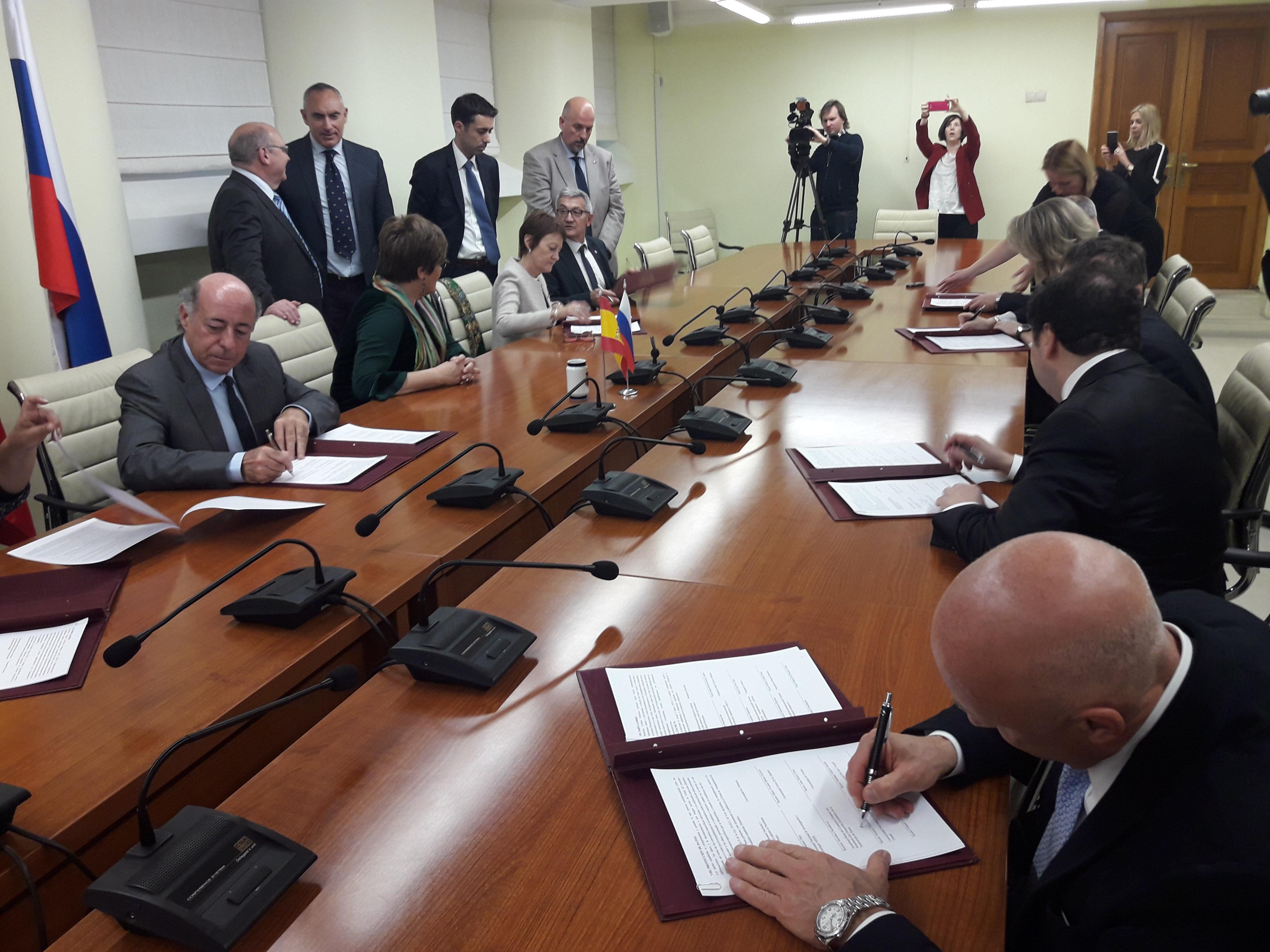 La ceremonia de la firma de la 'Alianza de universidades ruso-españolas'