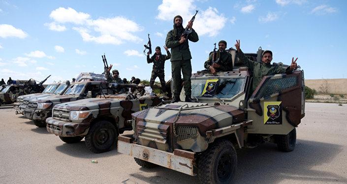 Los militares del Ejército Nacional Libio