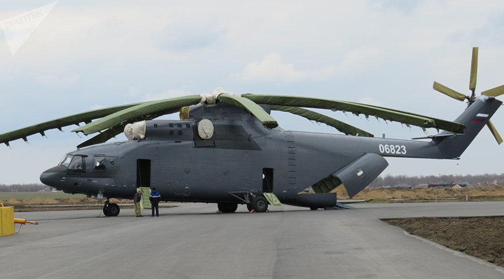 Modelo civil del Mi-26T2 destinado a la exportación