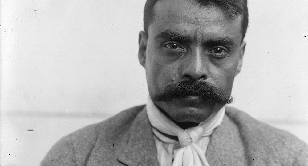El líder revolucionario mexicano Emiliano Zapata en 1914