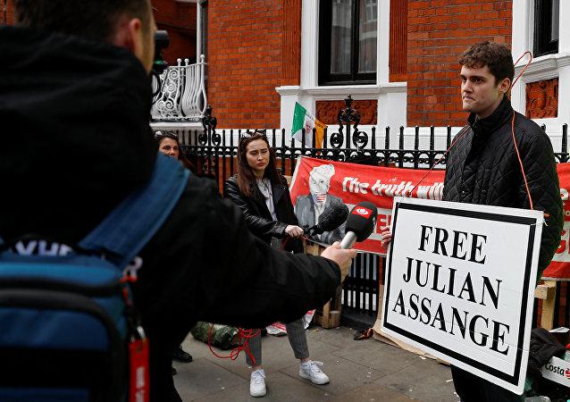 Activistas piden la liberación de Julian Assange (archivo)