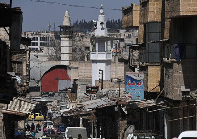 Unas calle en la ciudad siria de Hama
