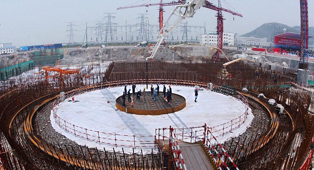 La construcción de una central nuclear en China