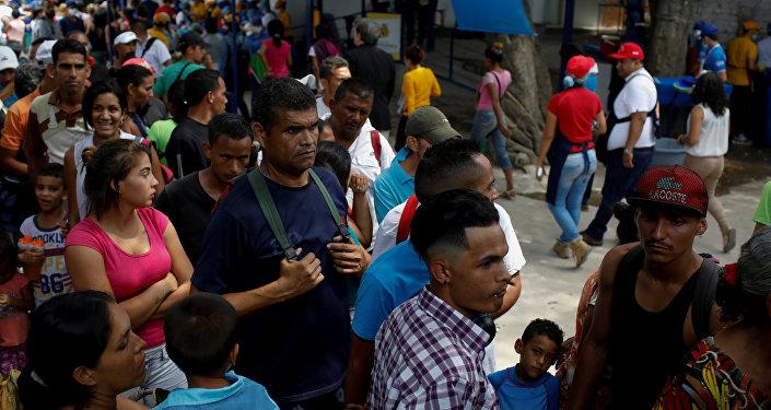 Migrantes venezolanos en Colombia (archivo)