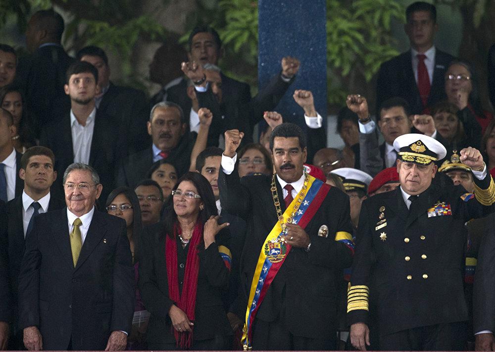Expresidente de Cuba, Raúl Castro, y presidente de Venezuela, Nicolás Maduro