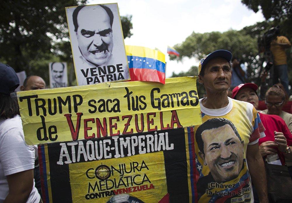 Venezuela se manifiesta contra los ataques de Donald Trump