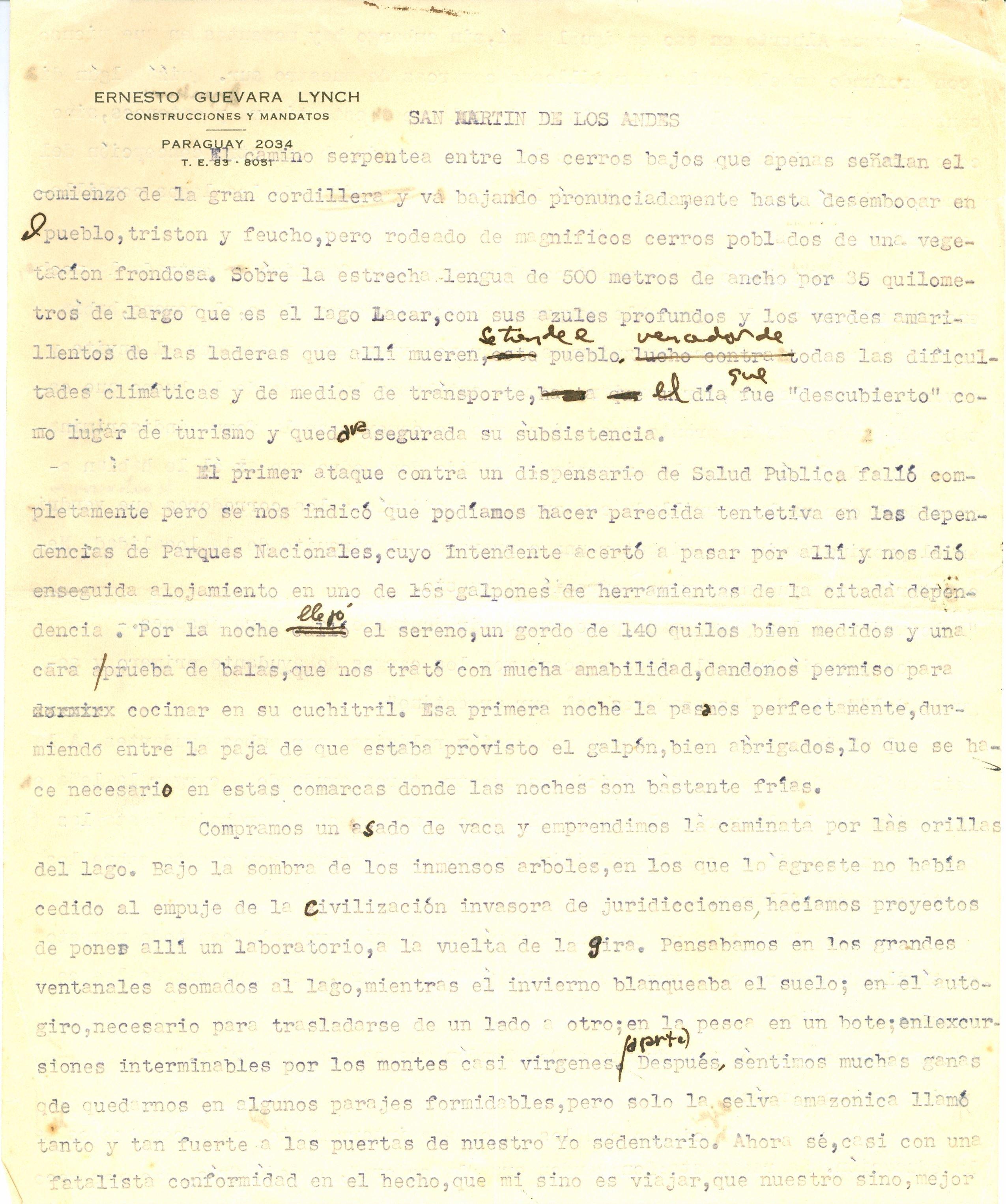 Notas de viaje de Ernesto Guevara