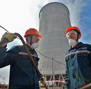 Construcción de la Central nuclear de Bielorrusia (archivo)