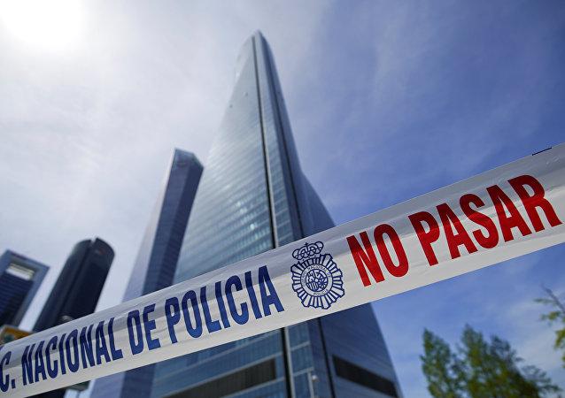 La evacuación de la Torre Espacio en Madrid, España