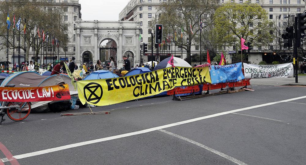 Protestas contra el cambio climático en Londres, Reino Unido