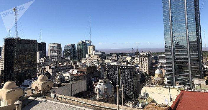 Panorámica desde el mirador de la Galería Güemes de Buenos Aires