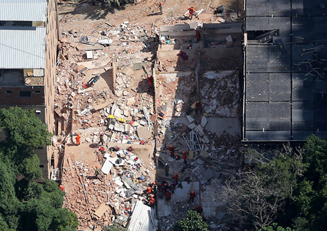 Consecuencias del derrumbe de edificios en Río de Janeiro, Brasil