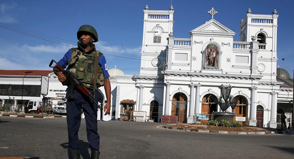 Un militar de Sri Lanka en Colombo