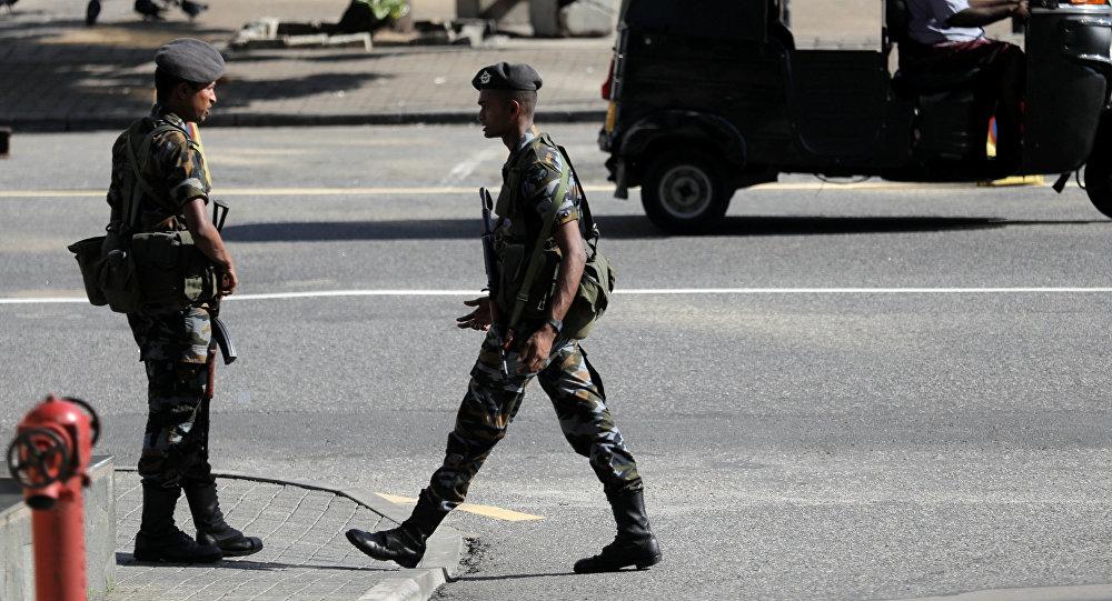 Militares de Sri Lanka en Colombo