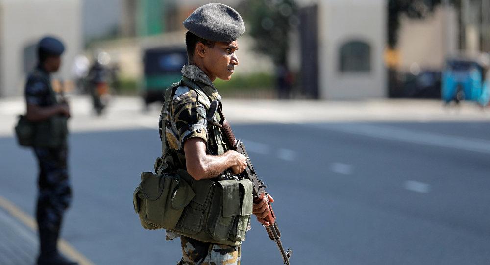 Militares en Colombo, Sri Lanka