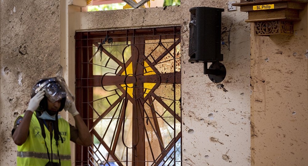 Una de las iglesias donde se produjeron explosiones en Sri Lanka