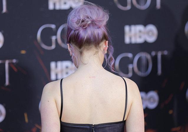 Maisie Williams, en el estreno de la última temporada de 'Juego de tronos'