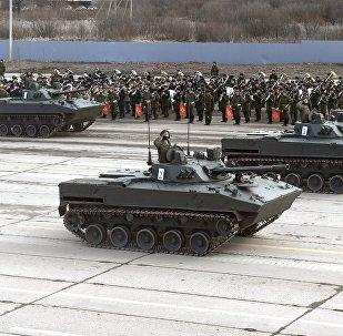 Unos BMP-3 rusos
