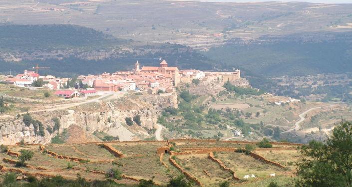 Cantavieja, municipio de la provincia de Teruel en la comunidad autónoma de Aragón, España (imagen referencial)