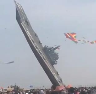 China lanza el primer portaviones volador del mundo
