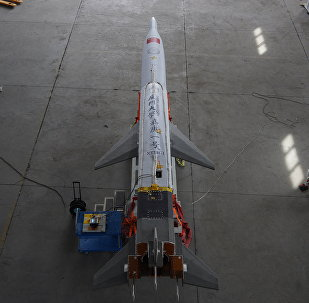 The Jiagen-1 hypersonic aircraft, designed by Xiamen University researchers, was tested in the Gobi on Tuesday, April 23, 2019