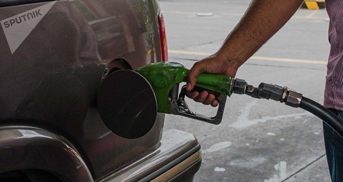 En una gasolinera venezolana