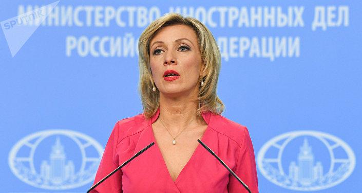 María Zajárova, portavoz del Ministerio de Exteriores de Rusia