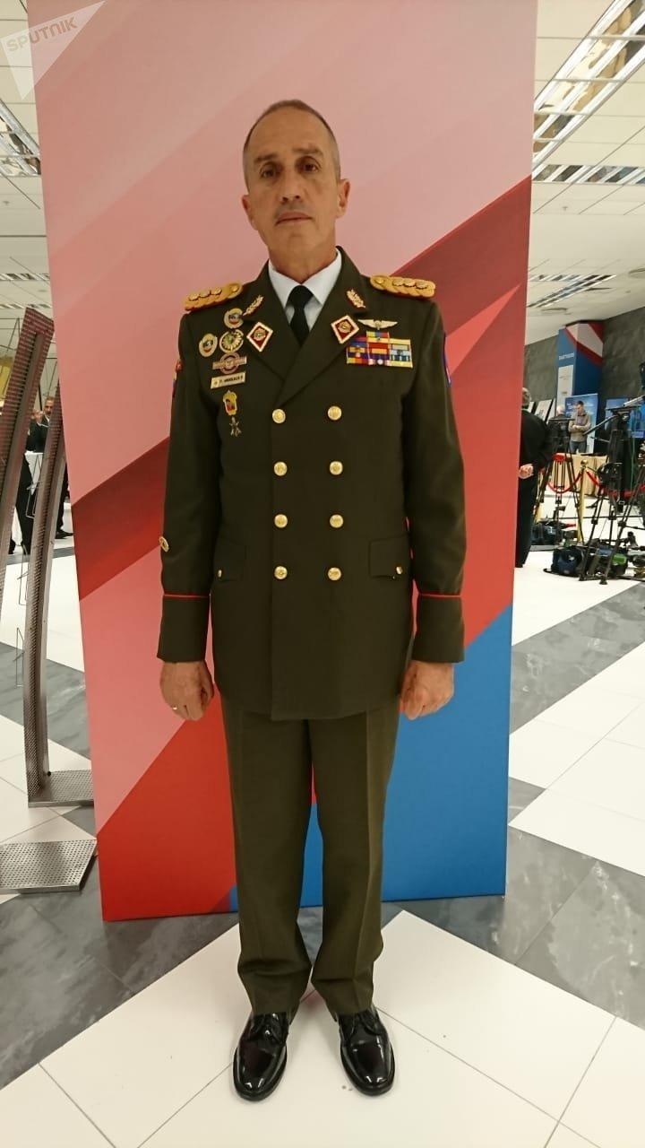 El mayor general Pascualino Angiolillo Fernández, secretario del Consejo de Defensa de la Nación de Venezuela