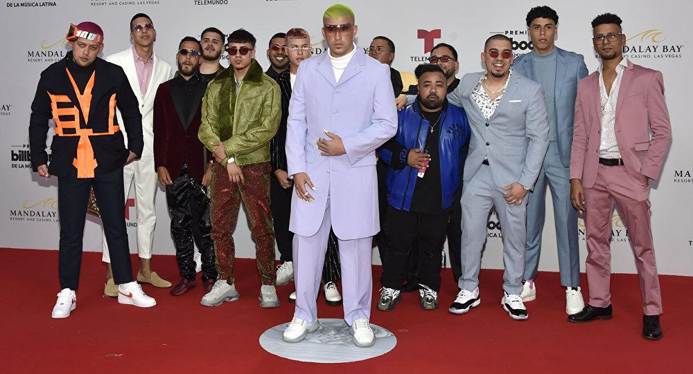 Bad Bunny, en la alfombra roja de los premios Billboard 2019 a la música latina