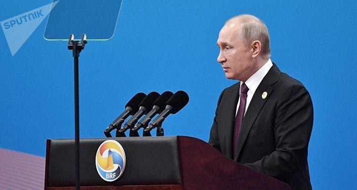 Vladímir Putin, presidente de Rusia en China