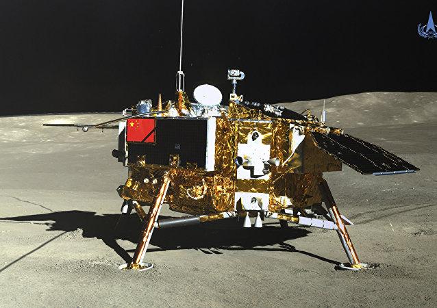 Una foto de la Chang'e 4 sobre la cara oculta de la Luna el 12 de enero 2019