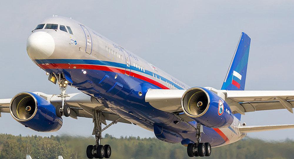 El avión ruso Tu-214ON