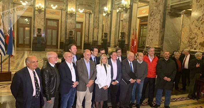 El Pacto Ético, organizado por la Asociación de la Prensa de Uruguay en el Palacio Legislativo en Montevideo