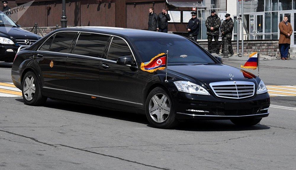 Una de las limusinas utilizadas por el líder norcoreano, Kim Jong-un, durante su visita a Vladivostok (Rusia)
