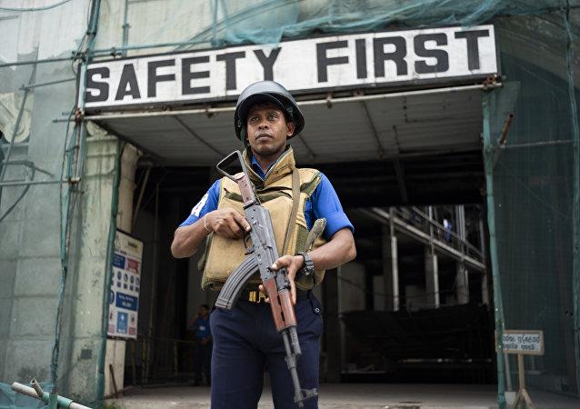 Un militar srilanqués