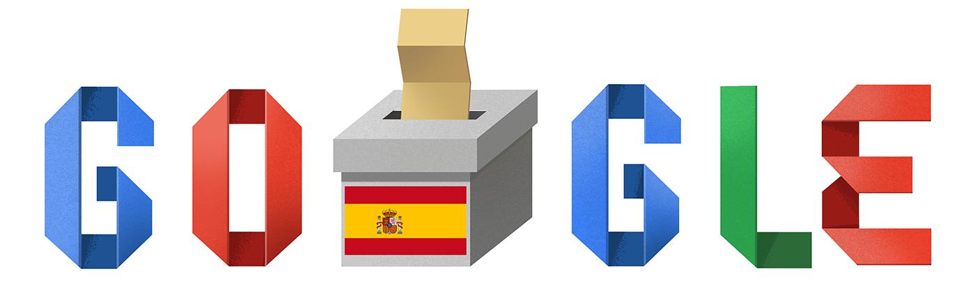 Google dedica un doodle a las elecciones de España
