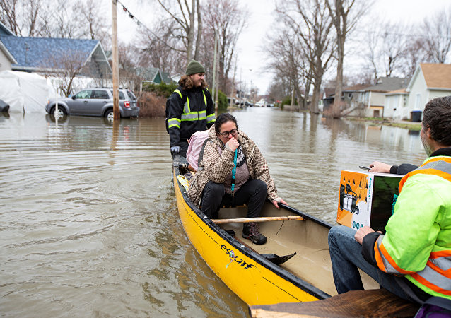 Inundaciones en Quebec, Canadá