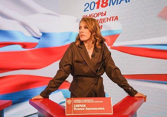 Ksenia Sobchak como candidata a la presidencia de Rusia