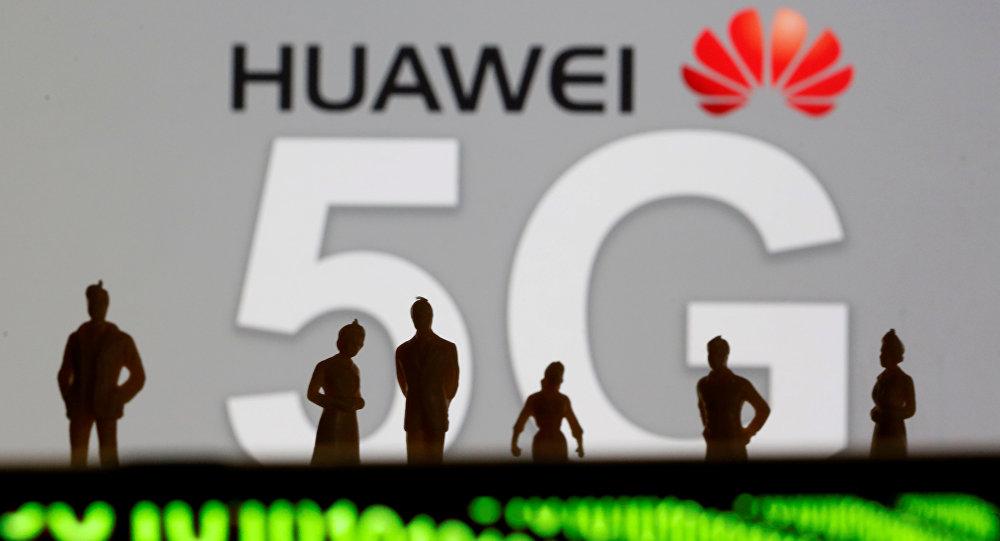 Huawei y el logotipo de la red 5G