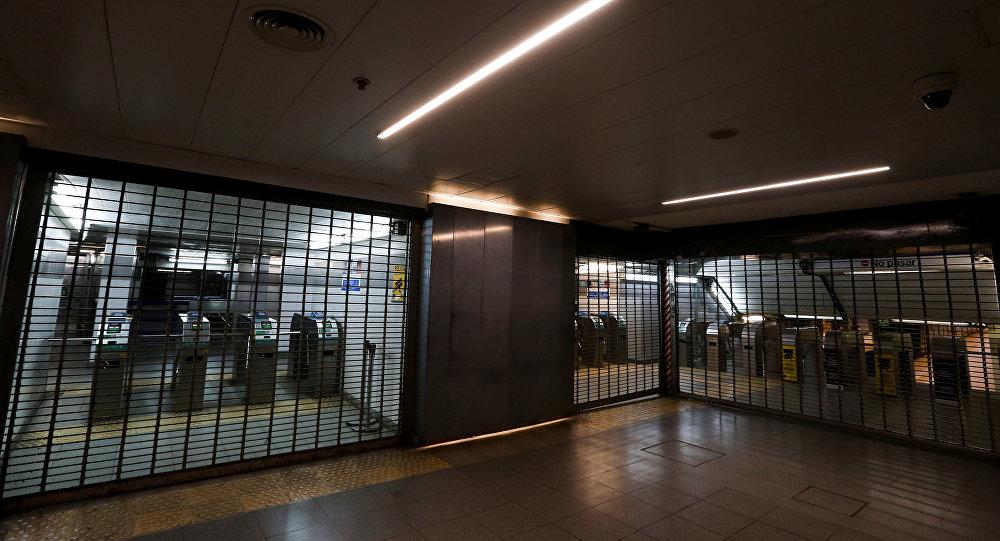 El metro de Argentina cerrado durante la huelga