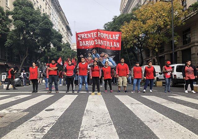 Algunos movimientos de la izquierda argentina participaron del paro contra el Gobierno