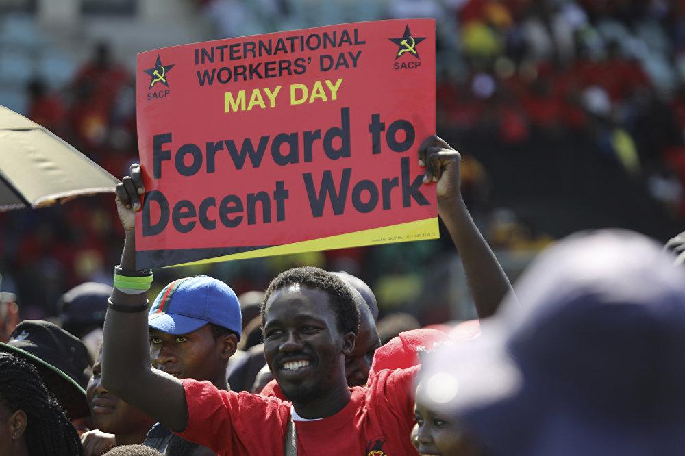 Trabajadores de toda Sudáfrica marcharon para reclamar a las autoridades mejores condiciones de trabajo
