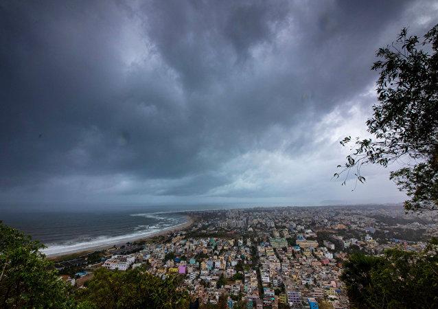 El ciclón Fani en la India