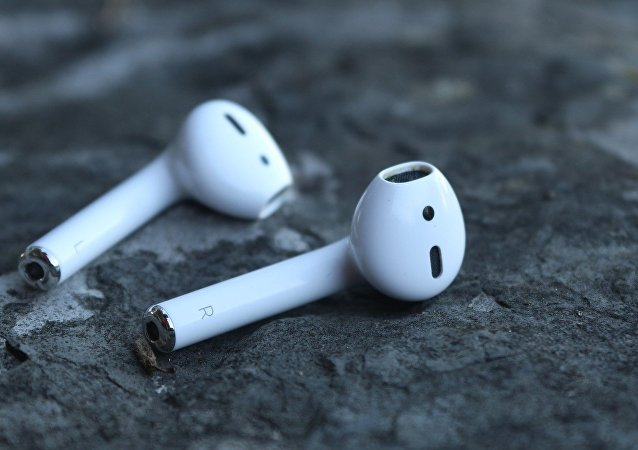 Unos auriculares inalámbricos AirPods