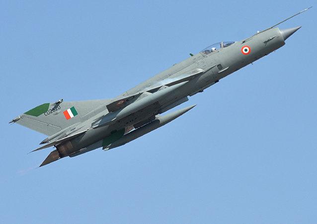 Un MiG-21 de la Fuerza Aérea de la India (archivo)