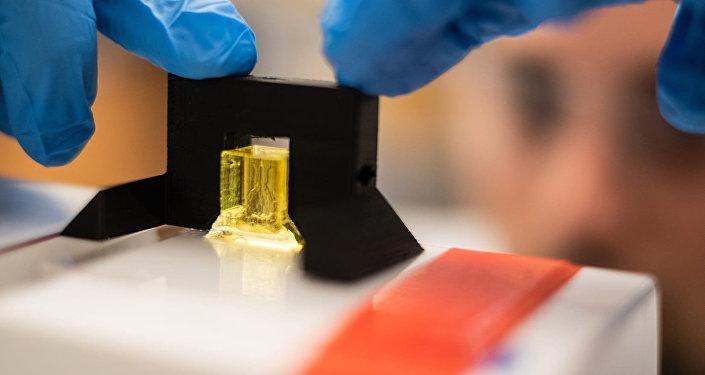 Un científico prepara el primer modelo en 3D de un pulmón