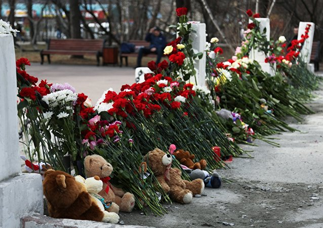 Homenaje a las víctimas del siniestro de un avión en Moscú